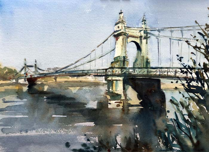 Hammersmith Bridge, 28x38 Saunders Waterford