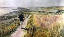 Striding Out, Ballycotton, 40x51cms, Two Rivers Fauvre