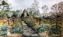 The Walled Garden, Hinton Ampler, 40x51 Two Rivers Fauvre