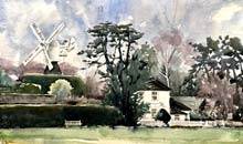 Wimbledon Windmill and the Rangers House, Wimbledon Common, 40x60, Two Rivers Paper