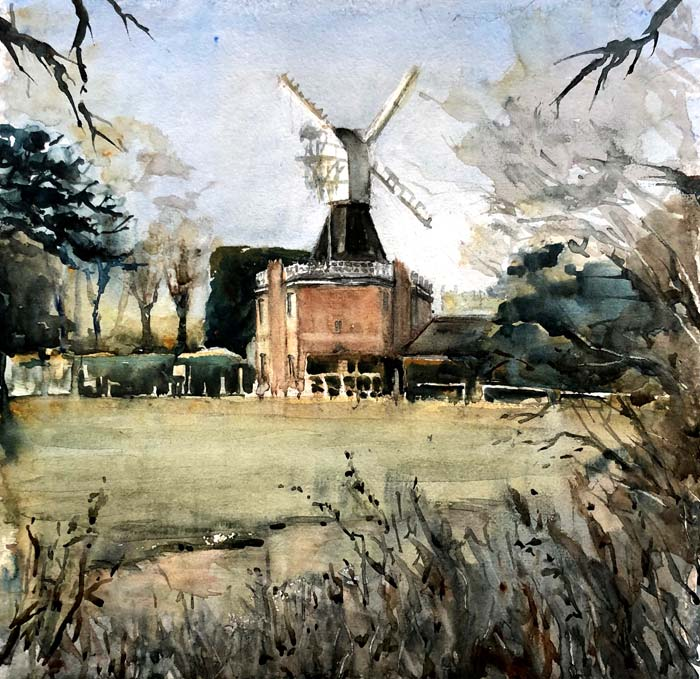 Wimbledon Windmill, 41x41cms Two Rivers Paper